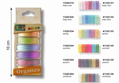 Organza set 6 kleuren x 6 mm x 2 meter