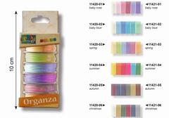 Organza set 6 kleuren x 3 mm x 2 meter