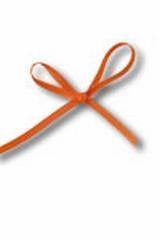 Lint Satijn 10m x 3mm Oranje
