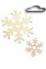 Metal tags goud sneeuwvlok 4 st.