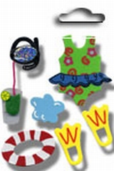 Accents 3D stickers swimming