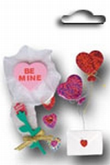 Accents 3D stickers valentine