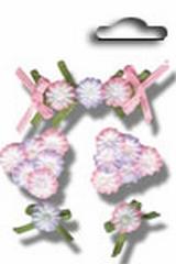 Accents 3D stickers flower garden