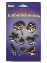 Embel Brass charm leaves