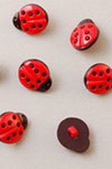 Buttons ass. 1 pk. ladybugs
