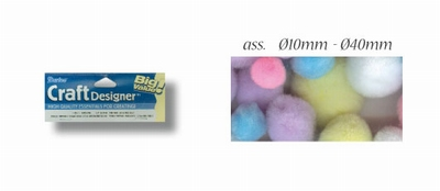 Pompon assorti paaskleuren 100st