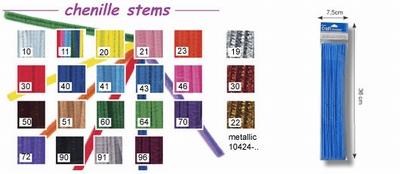 Chenilledraad metallic 25x