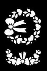 Embossing stencil 8x6 cm.krans