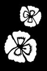 Embossing stencil 8x6 cm.bloemen