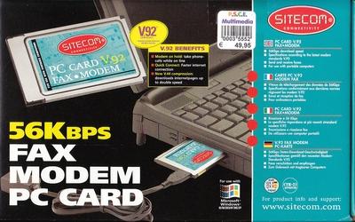 56K Fax modem PC card