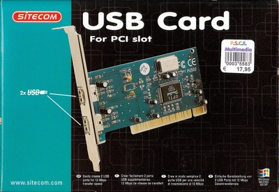 PCI 2 x USB card