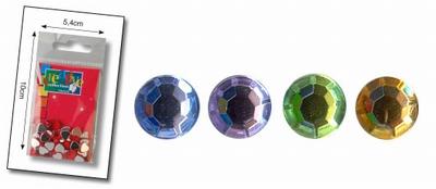 Rhinestones rond 7mm 50 licht assortiment