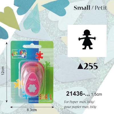 Picture Punch Small 1,5 cm Meisje
