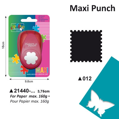 Picture Punch Maxi 3,75 cm Postzegel