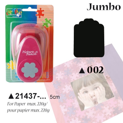 Picture Punch Jumbo 5 cm Label