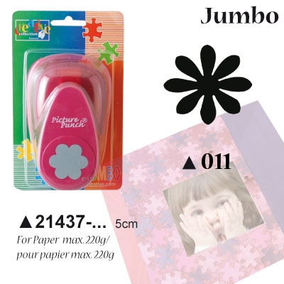 Picture Punch Jumbo 5 cm Madeliefje
