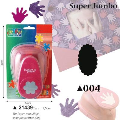Picture Punch Super Jumbo 7,5 cm Label ovaal gekarteld