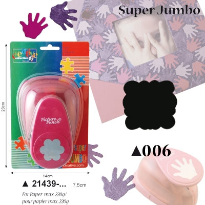 Picture Punch Super Jumbo 7,5 cm Frame vierkant
