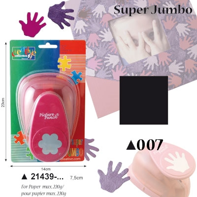 Picture Punch Super Jumbo 7,5 cm Vierkant