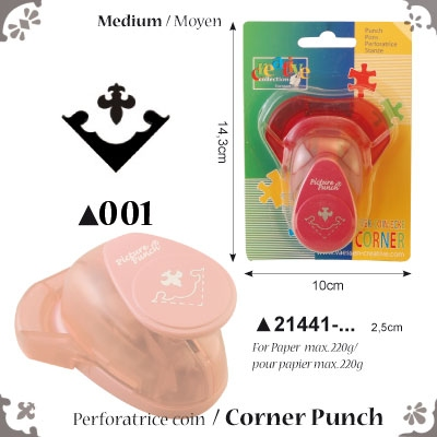 Picture Punch Corner Medium 2,5 cm Wapen