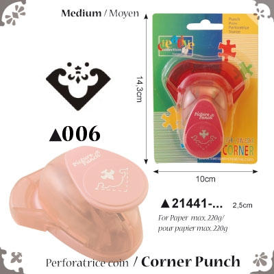 Picture Punch Corner Medium 2,5 cm Wapenschild