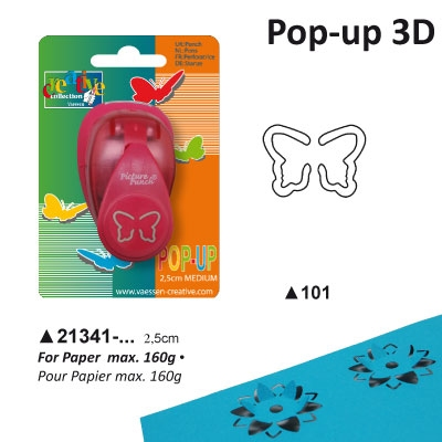 Pop-up Punch Midium 2,5 cm Vlinder