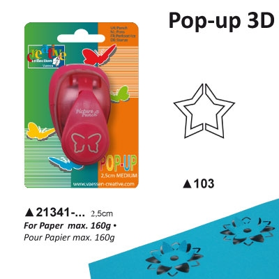 Pop-up Punch Midium 2,5 cm Ster