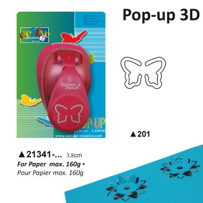Pop-up Punch Large 3,8 cm Vlinder