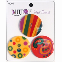 Button Sensations 3x Circus 3,4 cm