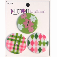 Button Sensations 3x Preppy 3,4 cm