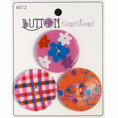 Button Sensations 3x Funky 3,4 cm