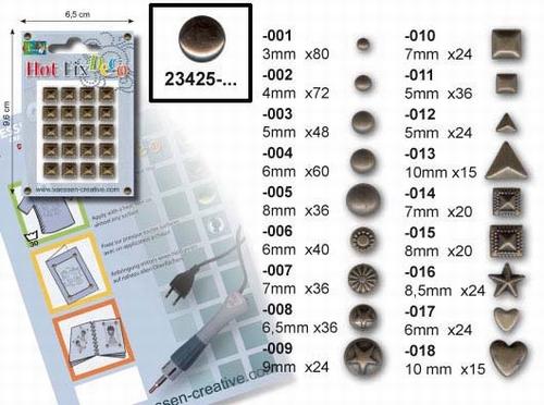 Metal Studs Zwart Zilver 6mm x 40