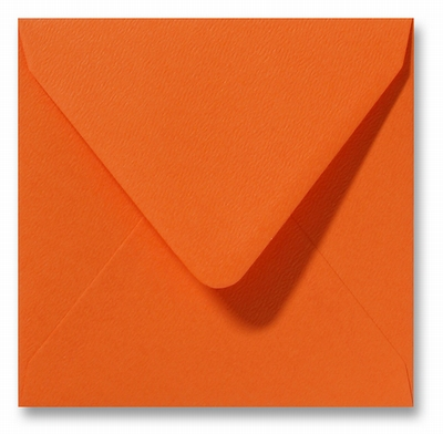 05 Envelop 14x14 cm Fiore Oranje