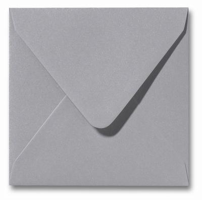 04 Envelop 14x14 cm Metallic Platinum