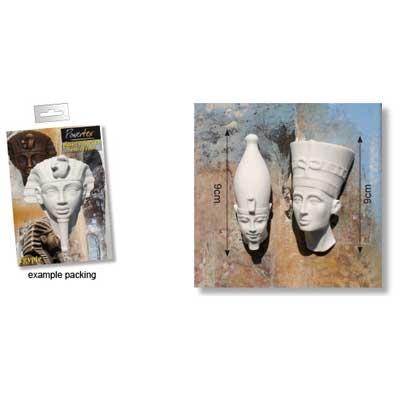 Powertex Egyptian Pharao 9cm x2