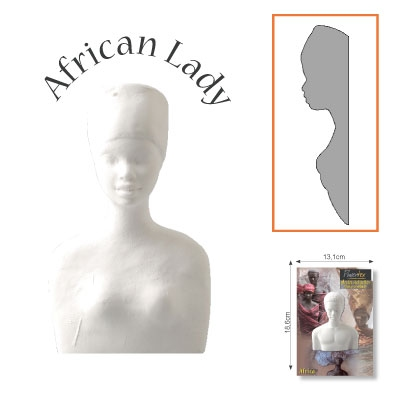 Powertex african lady half