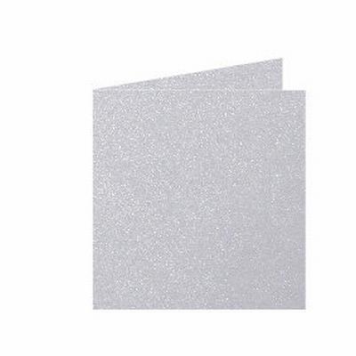 03 Metallic Dubbele kaart 13x13 CM Platinum