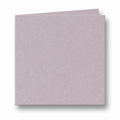 07 Metallic Dubbele kaart 13x13 CM Rose