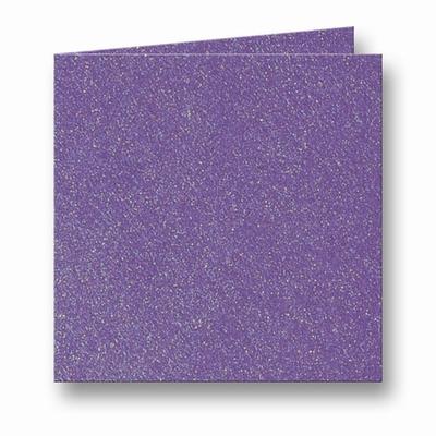 08 Metallic Dubbele kaart 13x13 CM Violet