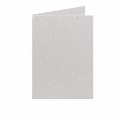 02 Metallic Dubbele kaart 15x10,5 CM Ivory per stuk