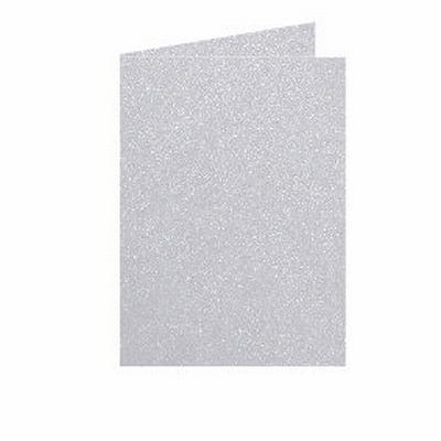03 Metallic Dubbele kaart 15x10,5 CM Platinum per stuk