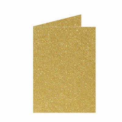 06 Metallic Dubbele kaart 15x10,5 CM Gold per stuk