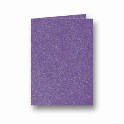 08 Metallic Dubbele kaart 15x10,5 CM Violet per stuk