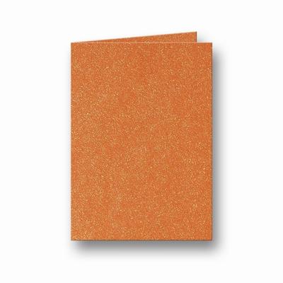09 Metallic Dubbele kaart 15x10,5 CM Orange Glow per stuk