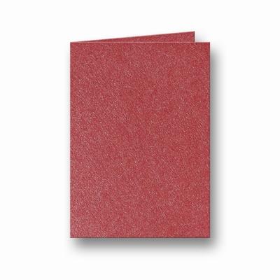 10 Metallic Dubbele kaart 15x10,5 CM Rosso per stuk