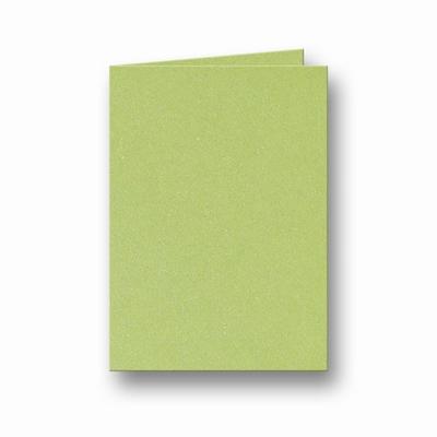 11 Metallic Dubbele kaart 15x10,5 CM Green per stuk