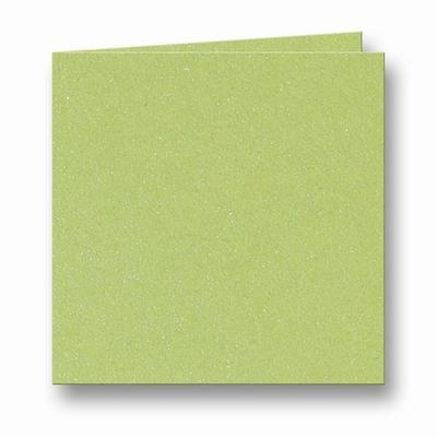 11 Metallic Dubbele kaart 15x15 CM Green per stuk