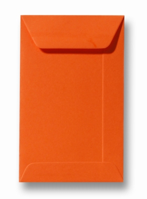 12 Envelop 6,5x10,5 cm (loonzakje)Roma Donkeroranje