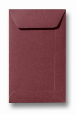 32 Envelop 6,5x10,5 cm (loonzakje) Roma Donkerrood