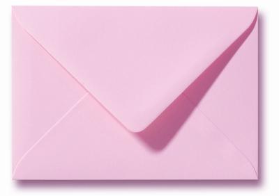 16 Envelop 9x14 cm Roma Donkerroze